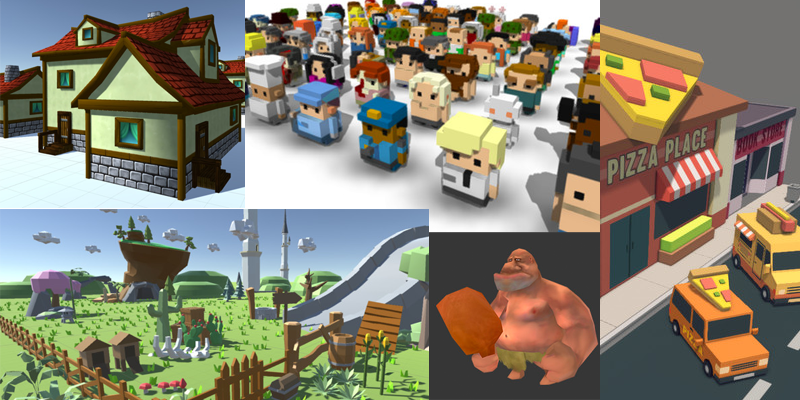 Free Low-Poly and Voxel Asset List – Zero Budget Games